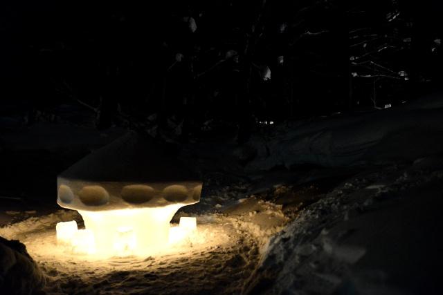 ベトナム人アーティストのUFOアート作品が話題―定山渓温泉「雪灯路2014」
