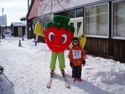 比布町「ぴっぷスキー場」を「苺」が滑走する!?