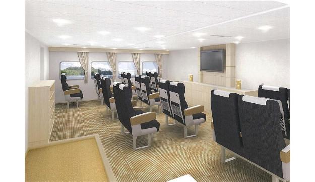 新造船「大函丸」復活就航! 大間~函館間最短90分に短縮