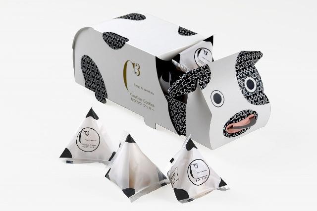 牛の鼻輪を引っ張ると箱が開く!ユニークな「カウカウクッキー」誕生