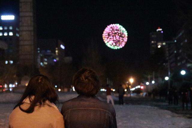 ホワイトデーの夜に1500発の花火!大倉山で「札幌雪花火2017」初開催
