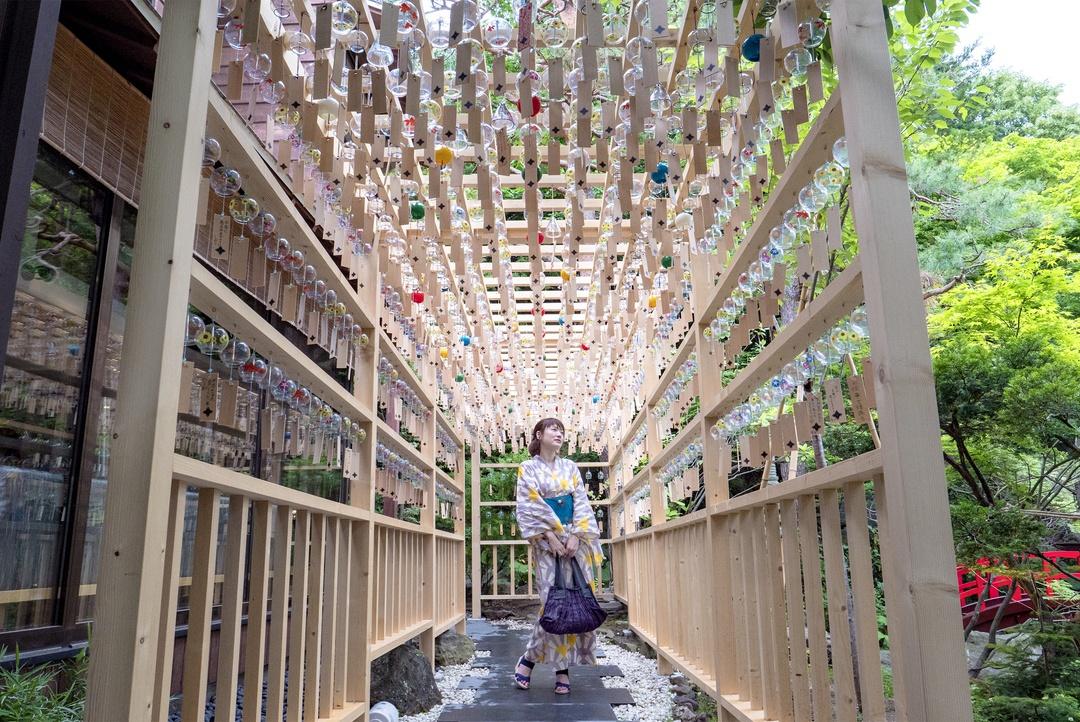 本格的な流しそうめんを札幌で!浴衣姿でエルムガーデンに行ってきた