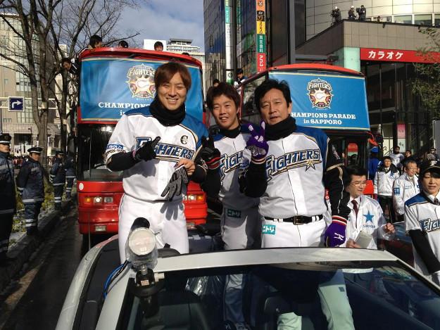 晴天の中、盛大に! 3年ぶり日本ハムファイターズ優勝パレード開催