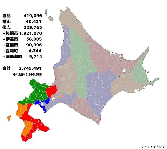 人口 北海道