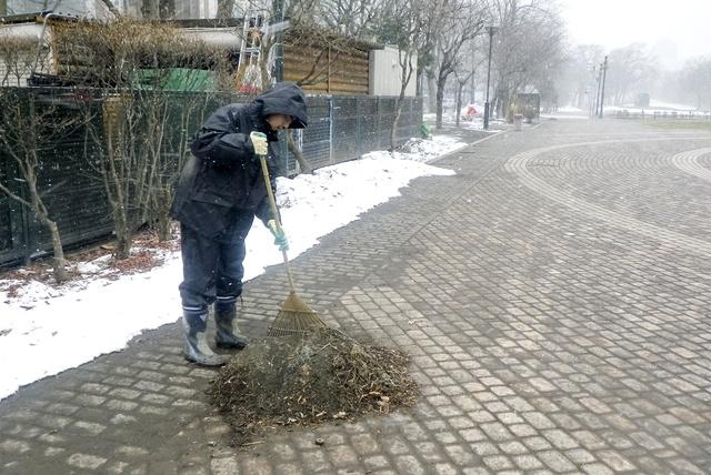 雪解けとともに出てくる「滑り止めの砂利」はどこへ行く?作業に密着