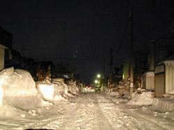 住宅街の排雪作業は一日がかり!!
