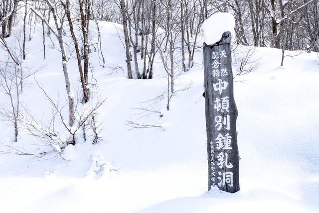 立派な氷筍や氷柱が現れる!道北の中頓別町で「冬の鍾乳洞探検」!