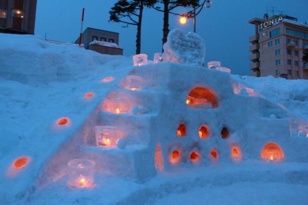 手作り感が温かみを感じさせる―幻想的なイベント「小樽雪あかりの路」