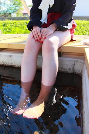 女子は行かなきゃ損! お肌すべすべ幽泉閣の美人温泉足湯へ!