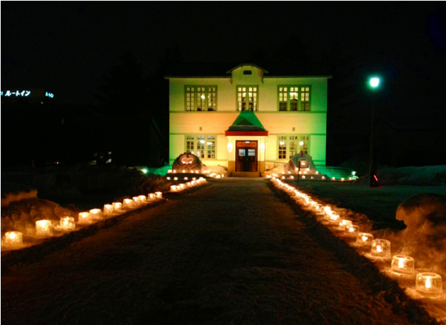 二月はキャンドルとライトアップで魅力倍増!「北見ハッカ記念館」