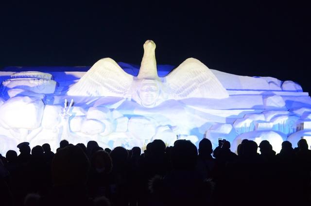 50回記念でプロジェクションマッピング!あばしりオホーツク流氷まつり