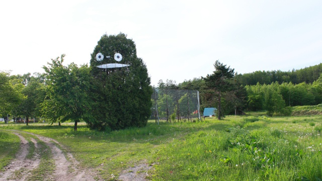 平取町に巨大「トトロの木」?! 岩知志で夢膨らむ 観光拠点づくり構想