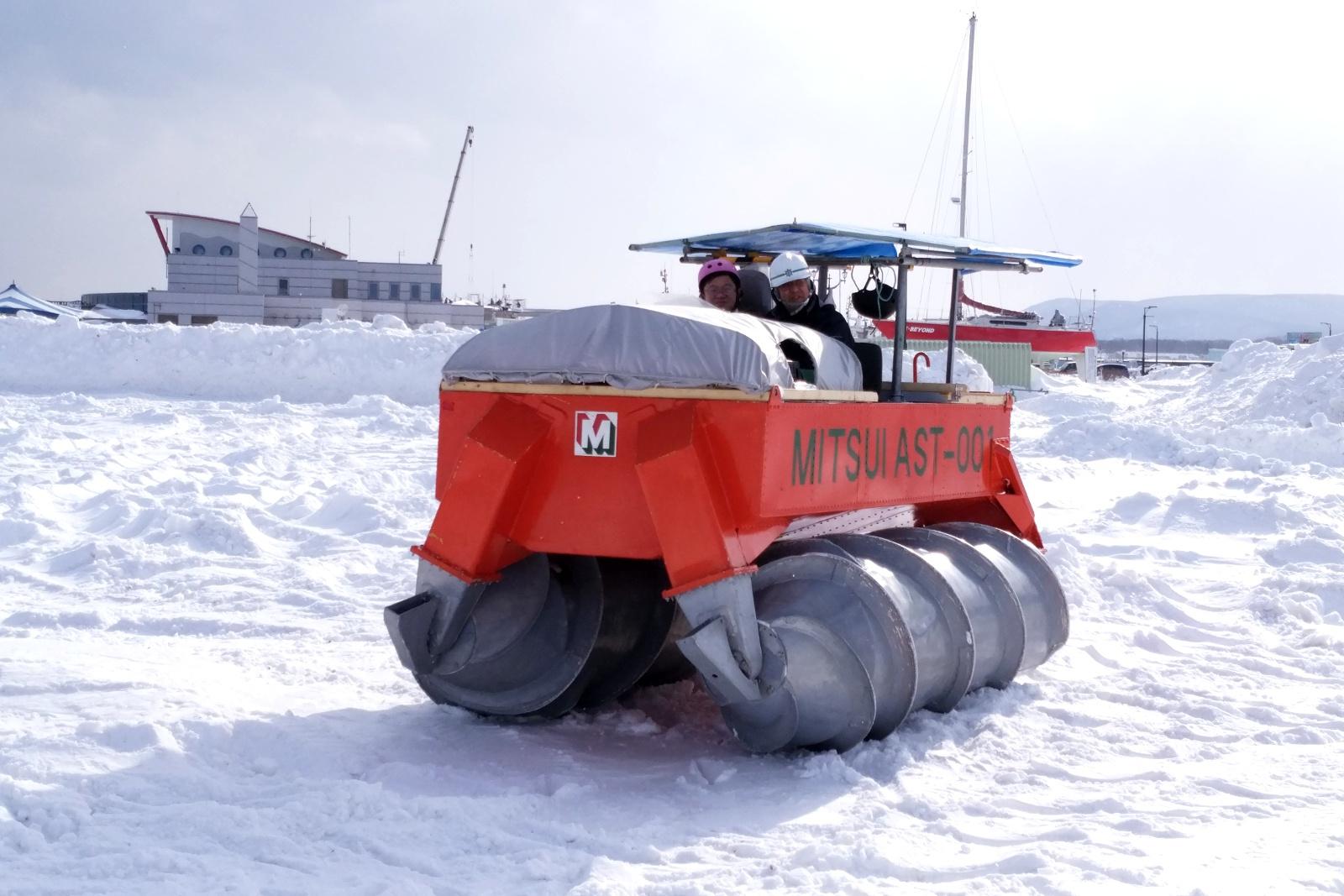 元祖ガリンコ号「AST-001」に乗れる!紋別市で冬のイベント初開催!