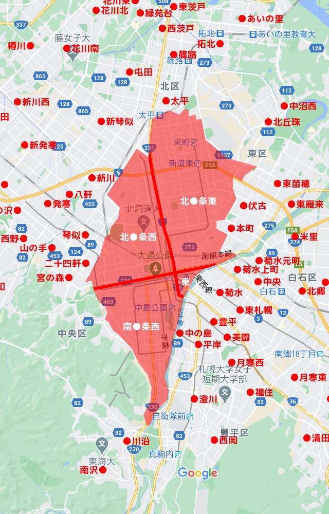 独特の住所表示「条丁目」街区が北海道にこんなにある理由│北海道 ...