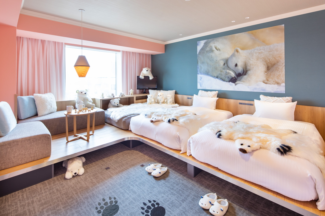 シロクマに囲まれて寝る!「星野リゾート OMO7旭川」にシロクマルーム誕生