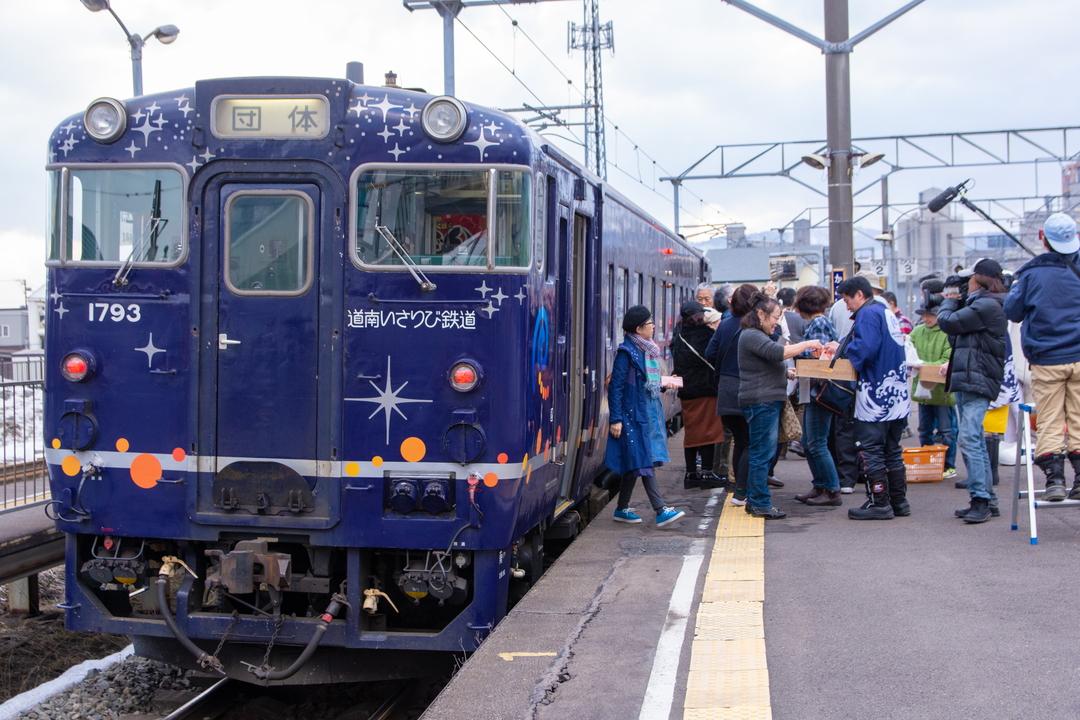 開業3周年の道南いさりび鉄道「おでん列車」で沿線の魅力を満喫