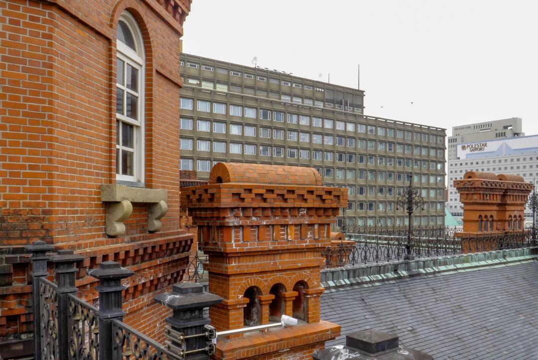 赤れんが庁舎の屋上にバルコニーがあるのをご存知?上がってきました!