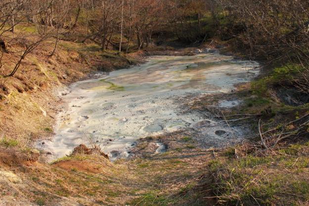 ボコッボコッと音を立てて泥が煮え立つ阿寒湖の「ボッケ」