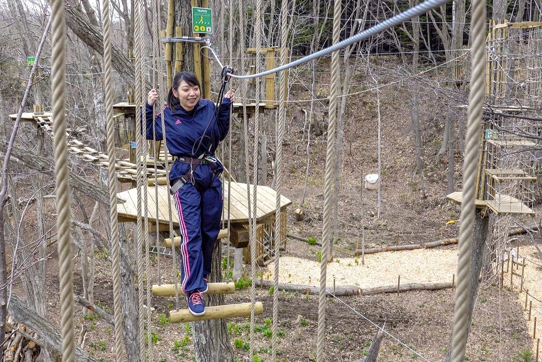 森の中を空中散歩!恵庭市に新たなアクティビティ施設がオープン