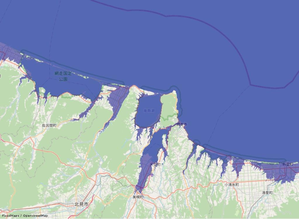 海面上昇すると北海道はどうなる?東西に分裂してしまうってホント?