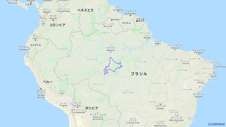 北海道のサイズを日本列島・世界各国地域と比べてみました!