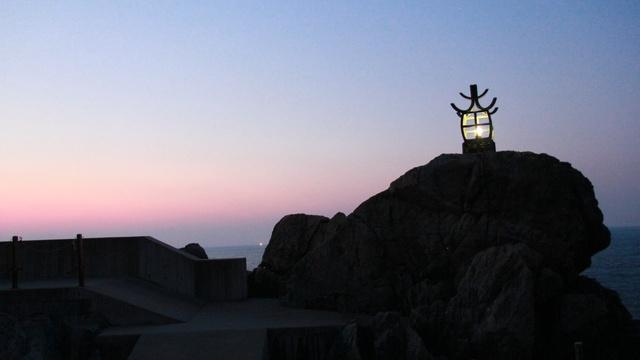 道内最古の『灯台』は高さ1.3mだった!? 大成の小さな灯台「定燈篭」