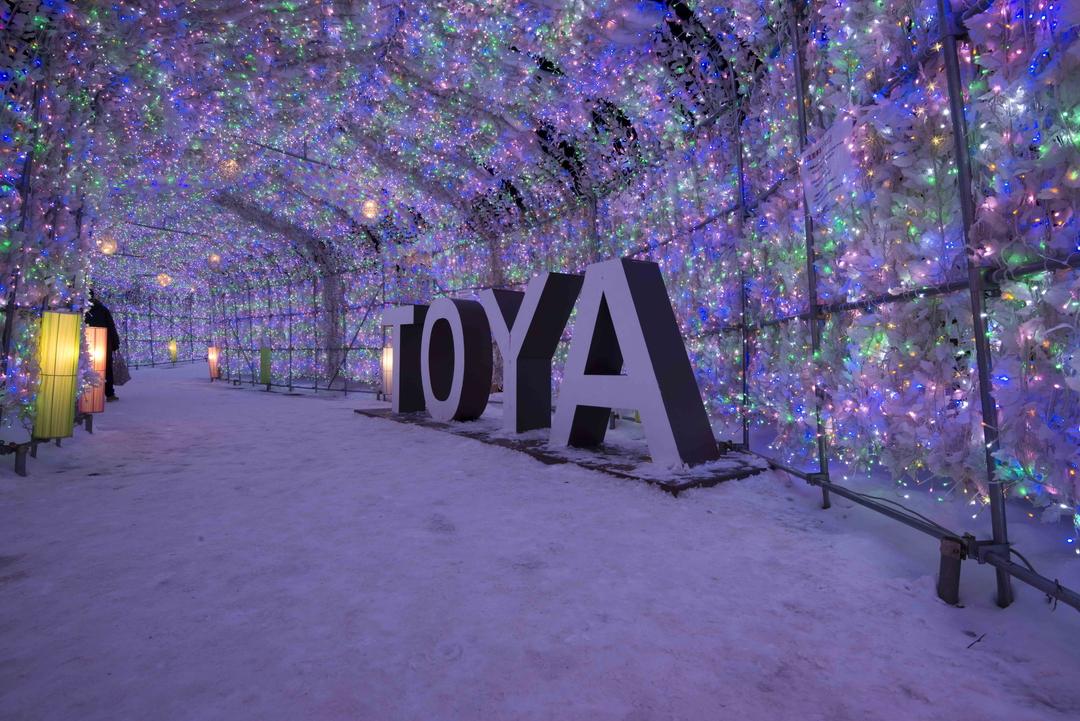洞爺湖温泉で冬花火を初開催!冬季2か月半、光と音のショーに